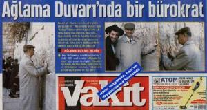 Die AKP-Zeitung Vakit mit antisemitischer Hetze...