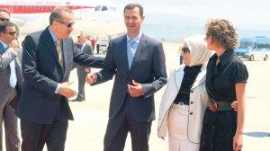 Familienglück, Erdogan und Assad samt Gattinnen