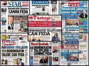 Erdogans Medien (hier die neun größten) berichten im Gleichklang über den sagenumwobenen Führer, kritisches Hinterfragen? Fehlanzeige im Erdoland