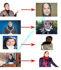 Vier AKP-Politikerinnen, die noch nie Kopftuch trugen, tragen es auf einmal.