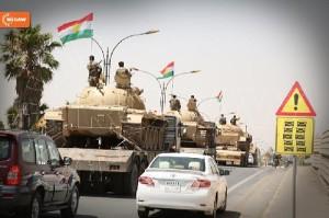 Die Peshmerga kämpfen angeblich mit Steinen gegen die ISIS-Terroristen..